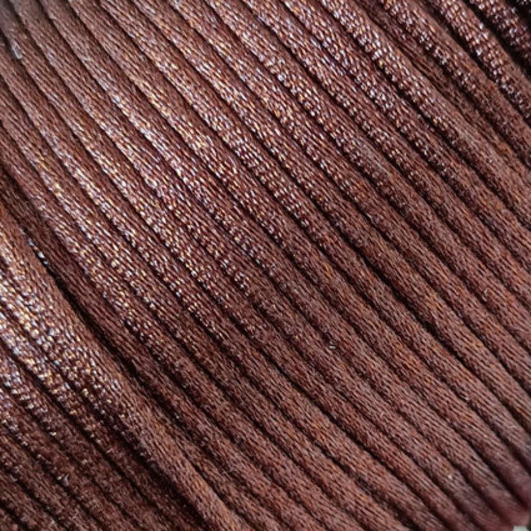 Satin Rats Tail Cord (2mm) - Brown image 0