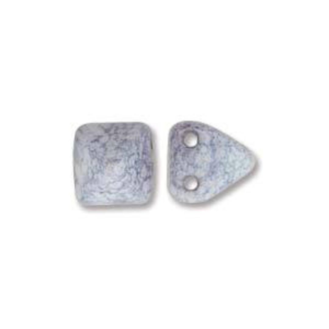Pyramid Stud:  6mm - White Terracotta Blue image 0