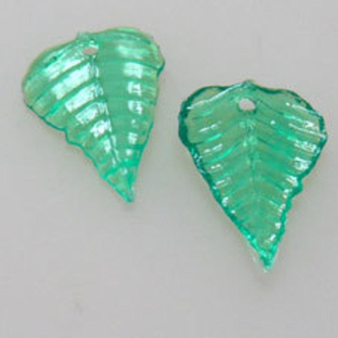 NEW! Acrylic Leaf, 10mm x 15mm - Green image 0