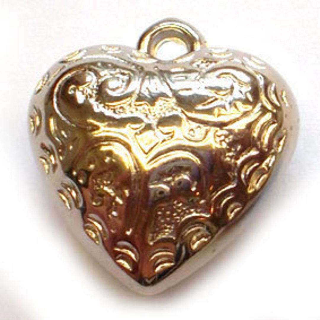 Metalised plastic, Heart - silver image 0