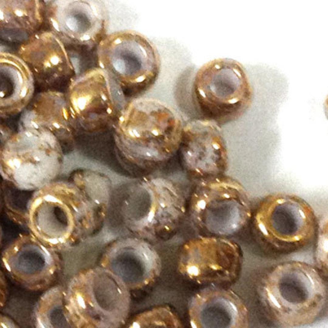 Toho size 8 round: 1700 - Gold/Beige, speckled image 1