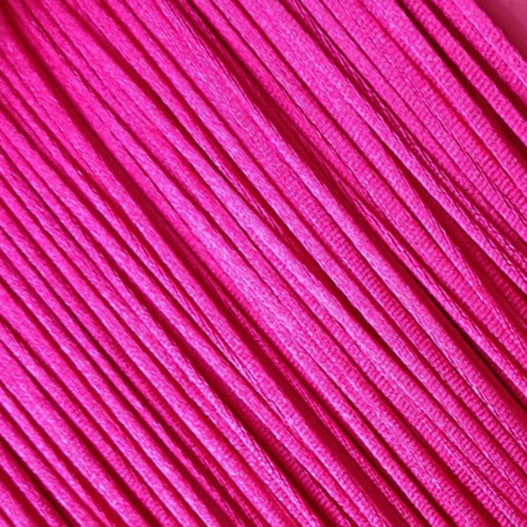 Satin Rats Tail Cord (2mm) - Bright Pink image 0