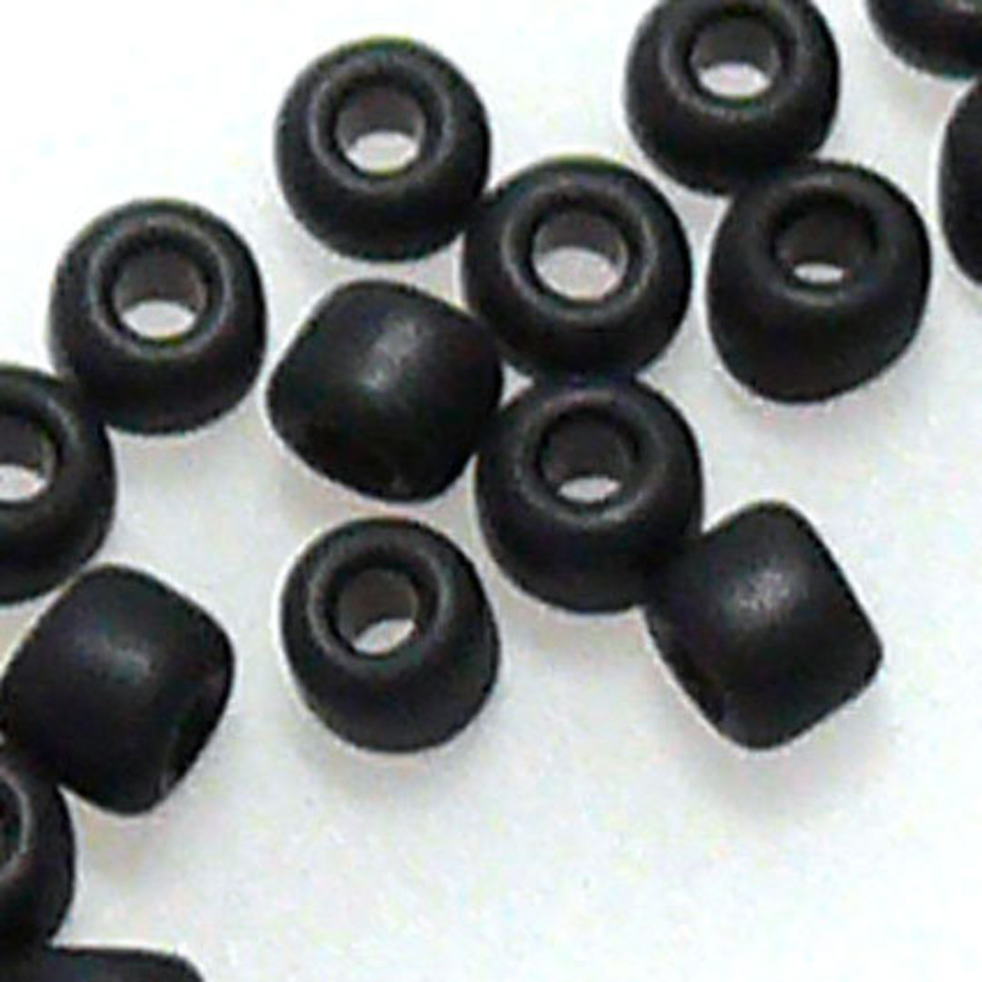 Miyuki size 11 round: F401 - Matte Jet Black image 0