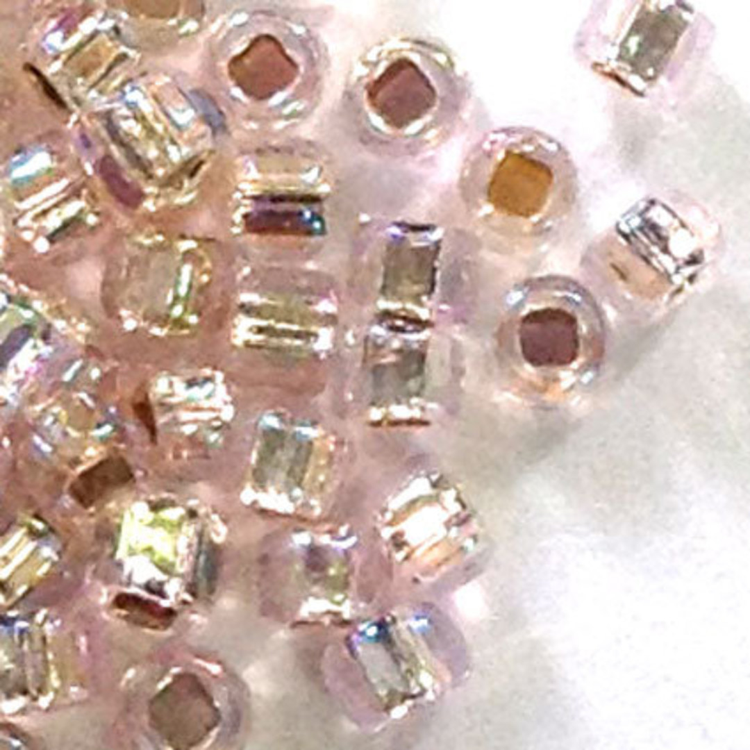 Matsuno size 11 round: 640B - Light Pink Shimmer, silver lined image 0