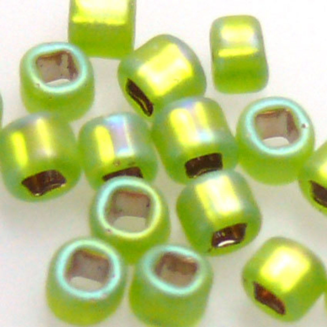 Matsuno size 8 round: F643A - Frosted  Lime Shimmer image 1
