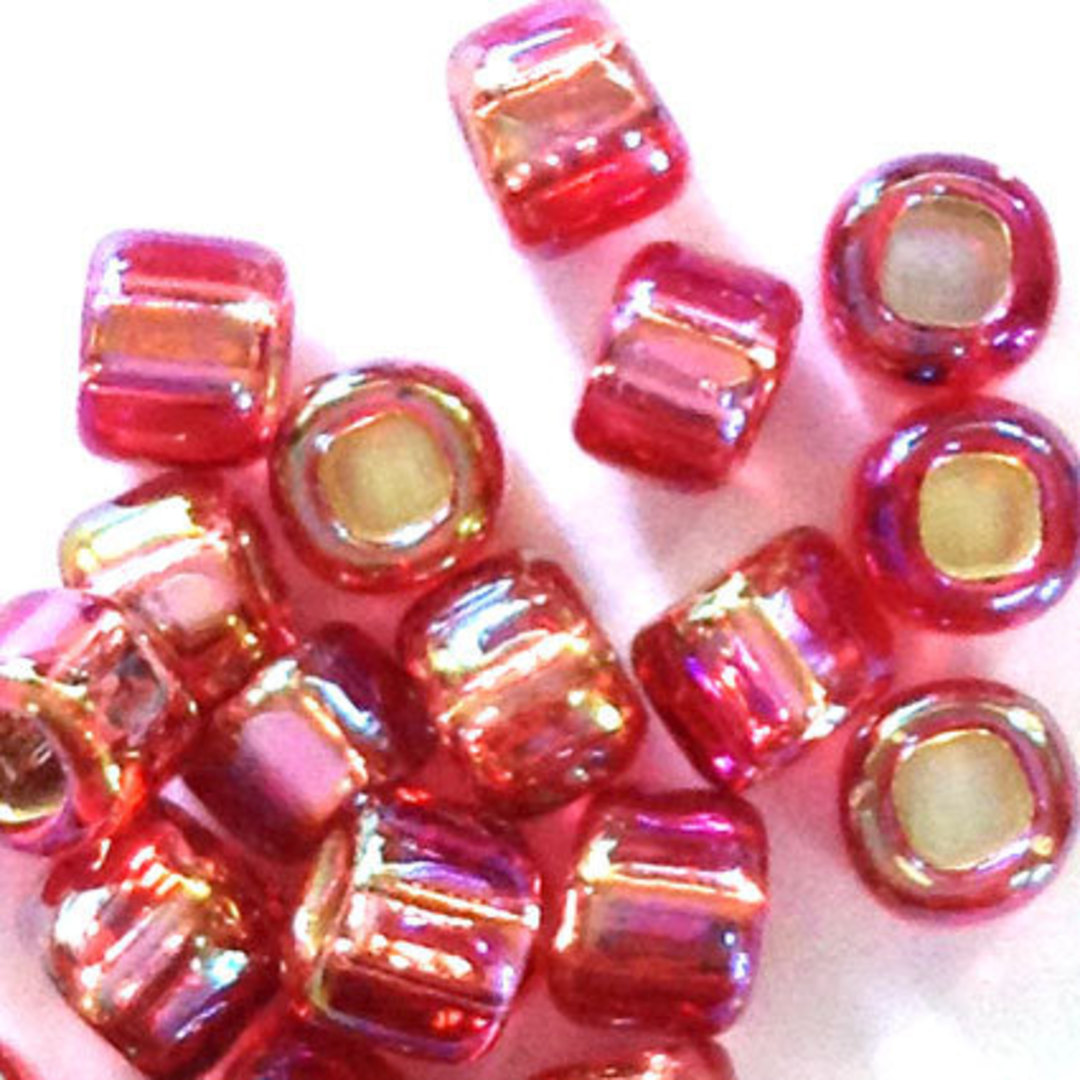 Matsuno size 6 round: 640C - Rose Pink AB, silver lined image 1