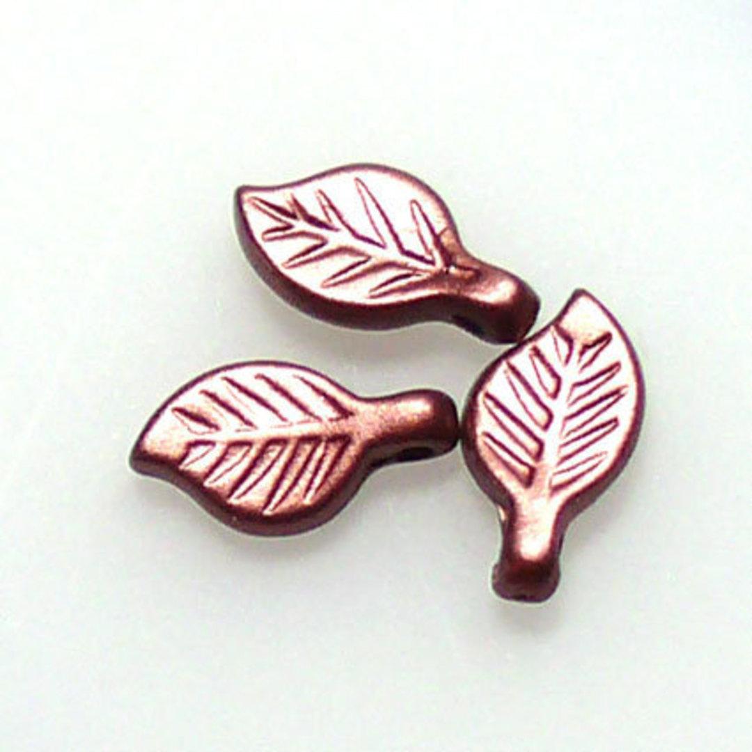 Acrylic Leaf, 5mm x 9mm - Reddy Brown image 0
