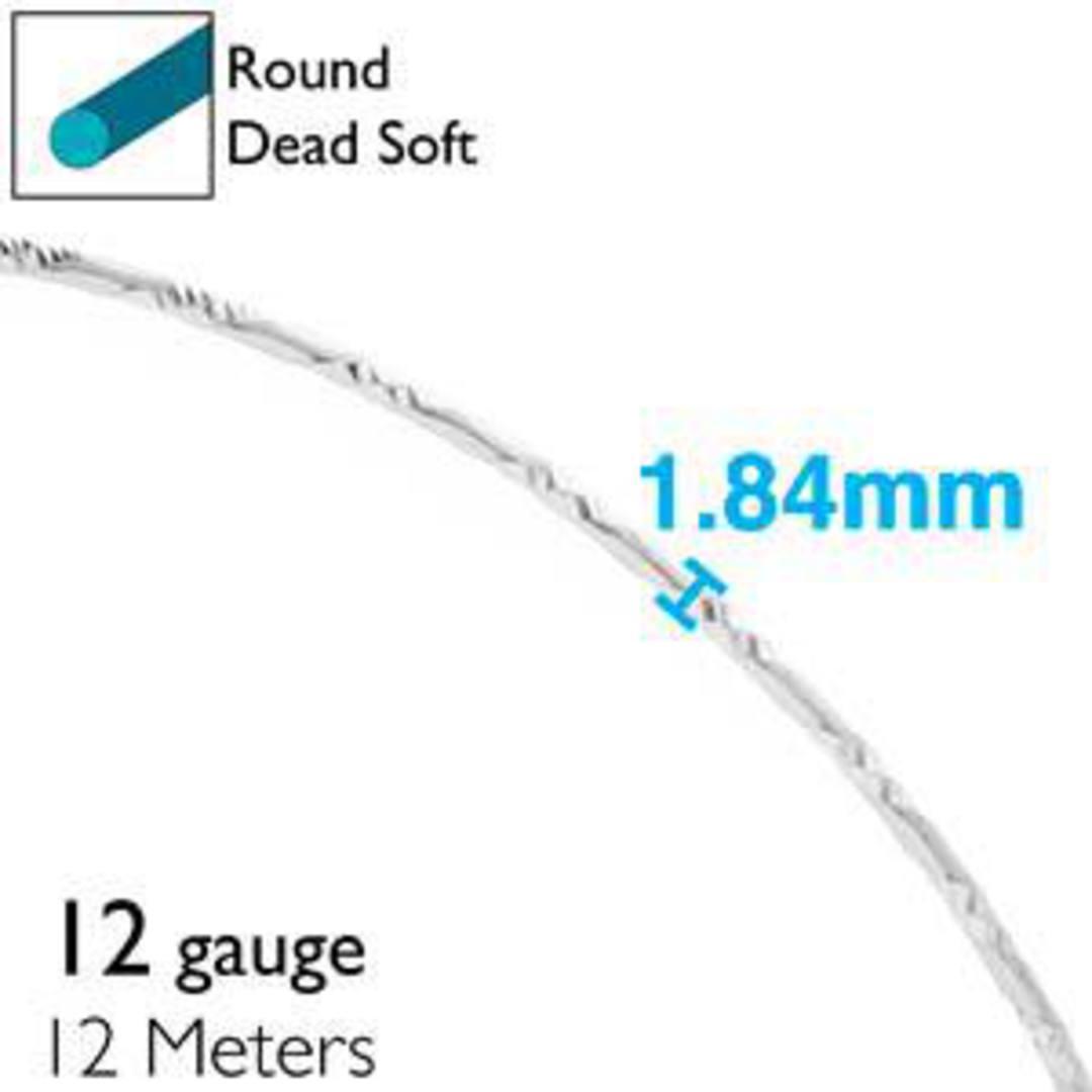 Aluminum Diamond Cut Craft Wire: 12 gauge - Silver/Silver image 1