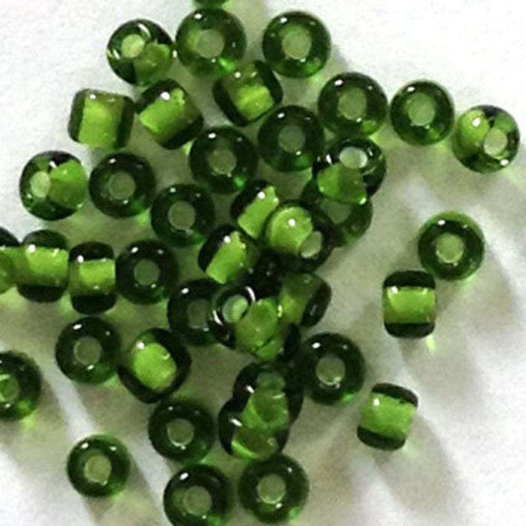 Matsuno size 11 round: 327H - Green, white lined image 0