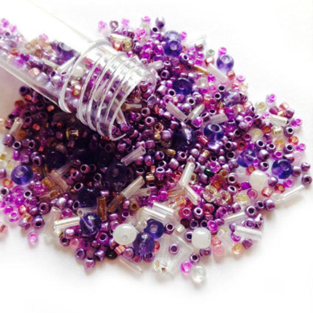 Seed Bead Mix, 15gm - LILAC image 0