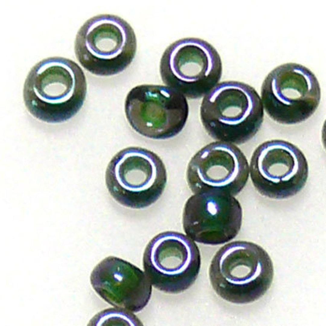 Toho size 11 round: 338B - Forest Green, transluscent image 0