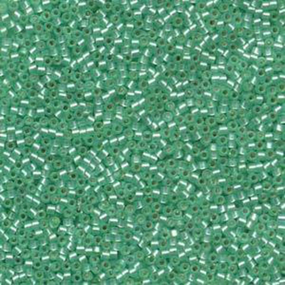11/0 Miyuki Delica, colour 691 - Mint Green, semi-matte, silver lined image 0