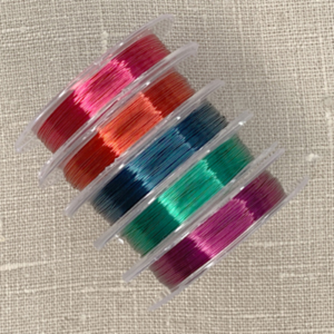 5 x 10m spools of 28g wire: Brights image 1