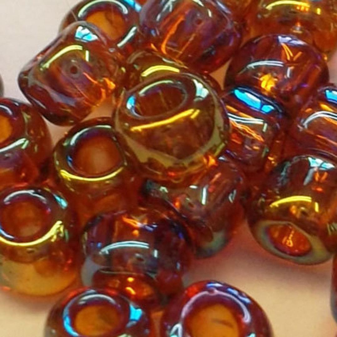 Matsuno size 8 round: 257 - Dark Amber Iris, transparent image 1
