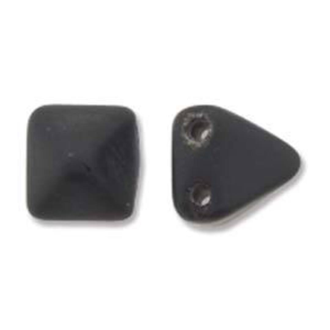 Pyramid Stud:  6mm - Matte Black image 1
