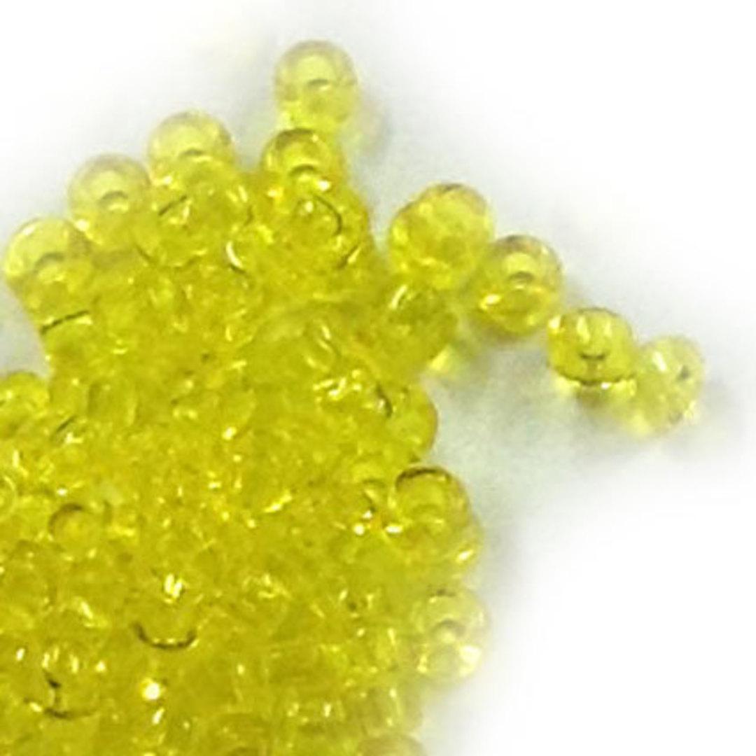 Miyuki size 15 round: 136 - Bright Yellow, transparent image 0