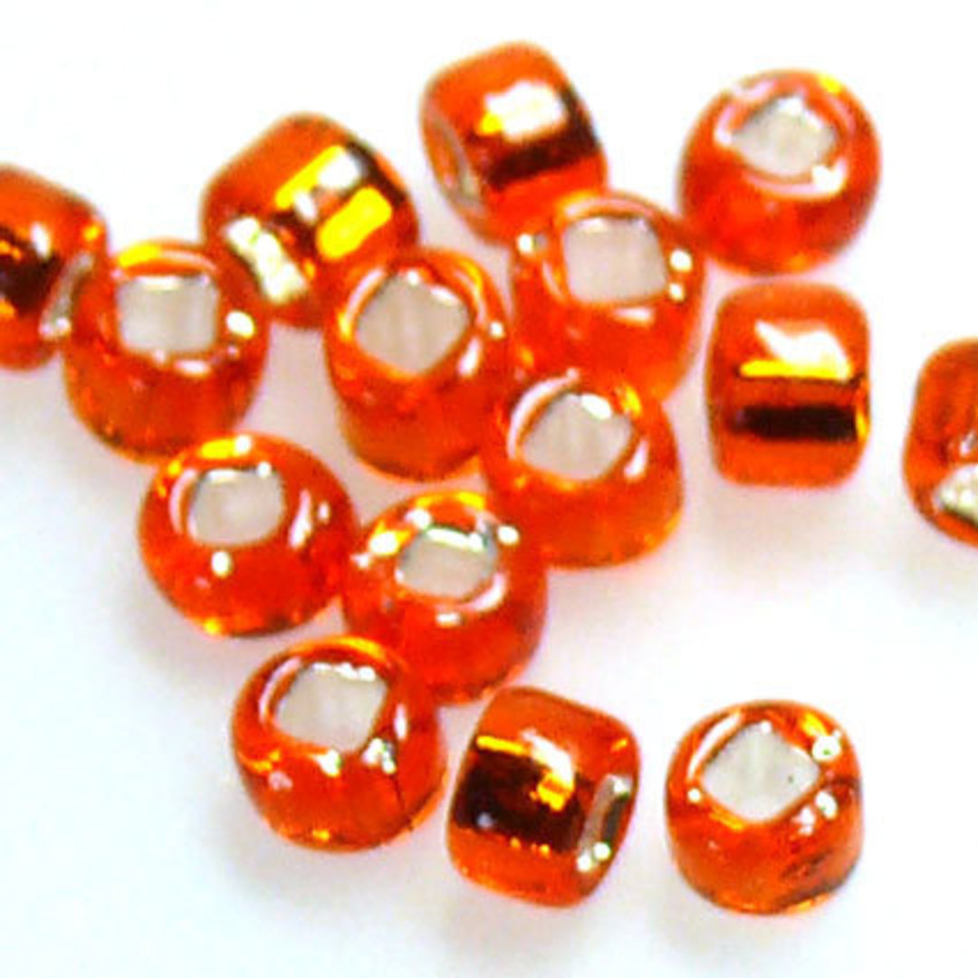 Matsuno size 8 round: 9 - Orange, silver lined image 1