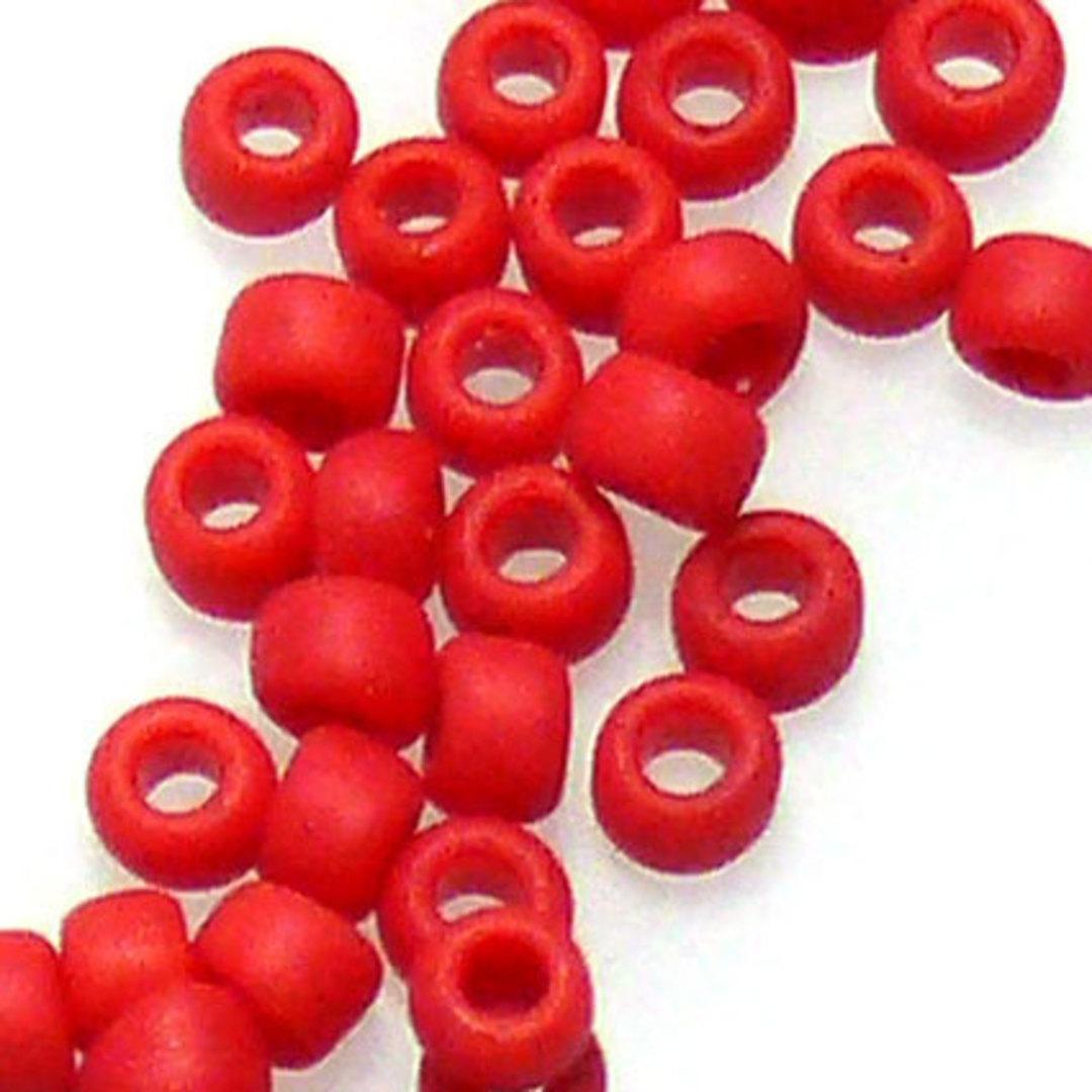 Matsuno size 11 round: F408 - Red Opaque image 0