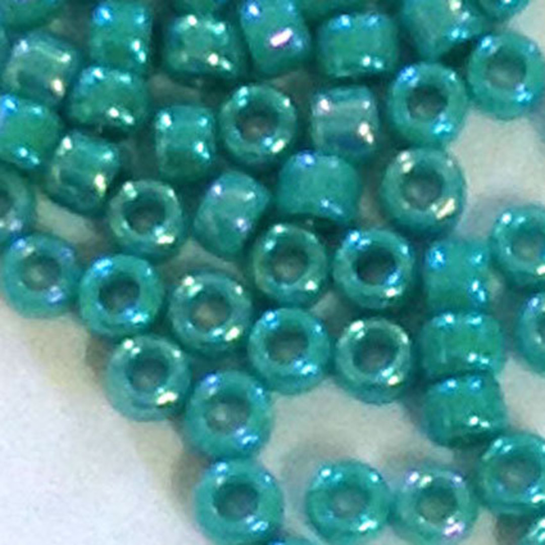 Matsuno size 11 round: 430R - Turquoise Opaque Shimmer image 0