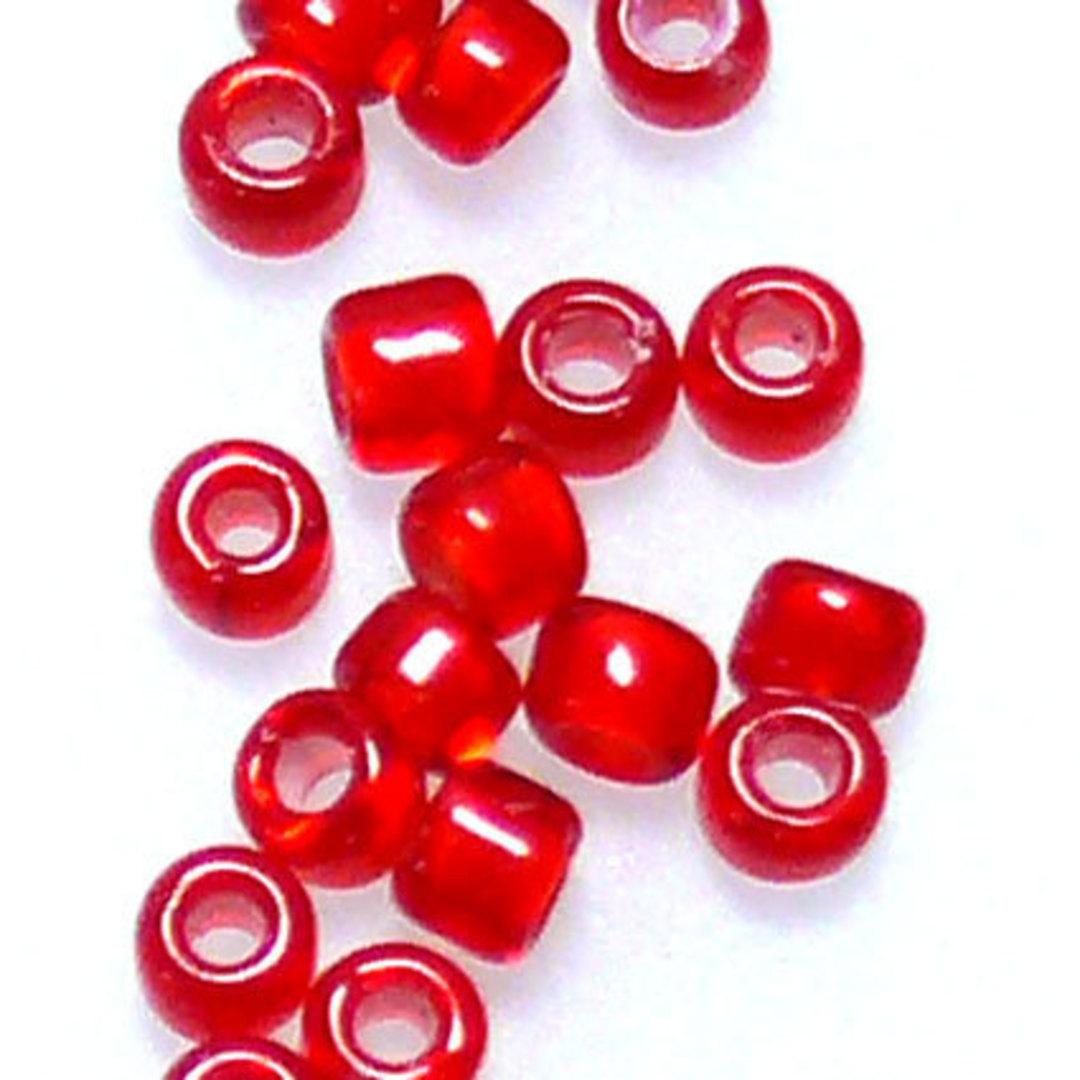 Matsuno size 11 round: 327 -  Red, white colour lined image 0