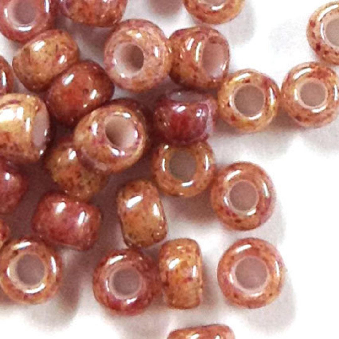 Toho size 8 round: 1201 - Pinky Beige, speckled image 1