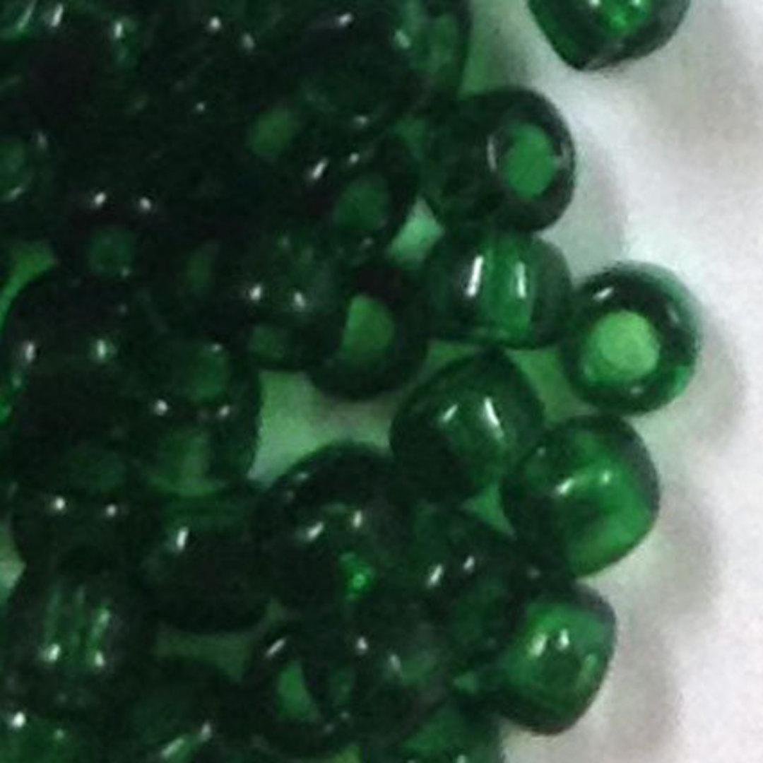 Miyuki size 15 round: 147A  - Deep Green, transparent image 0