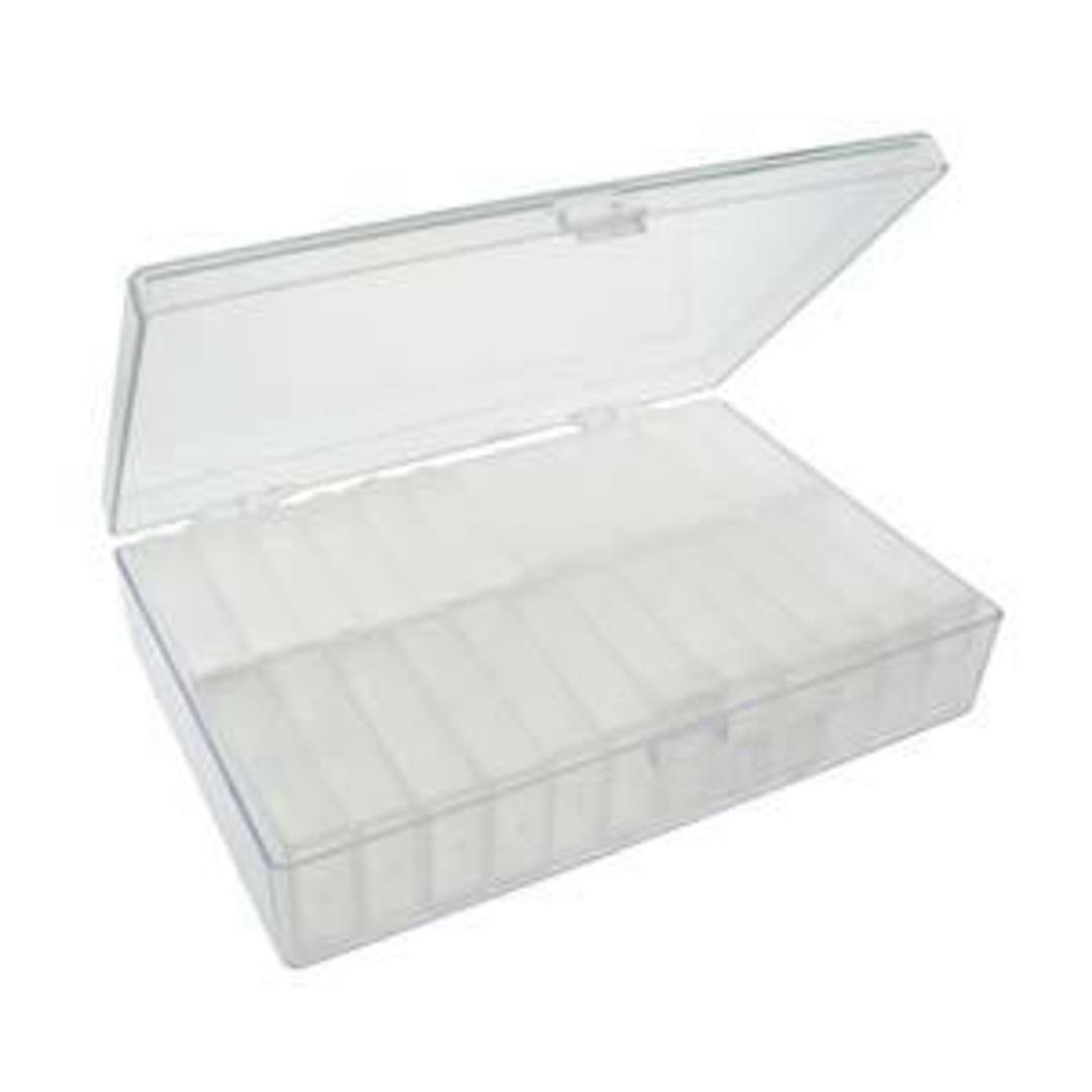 Storage Box with 24 flip top cases image 1
