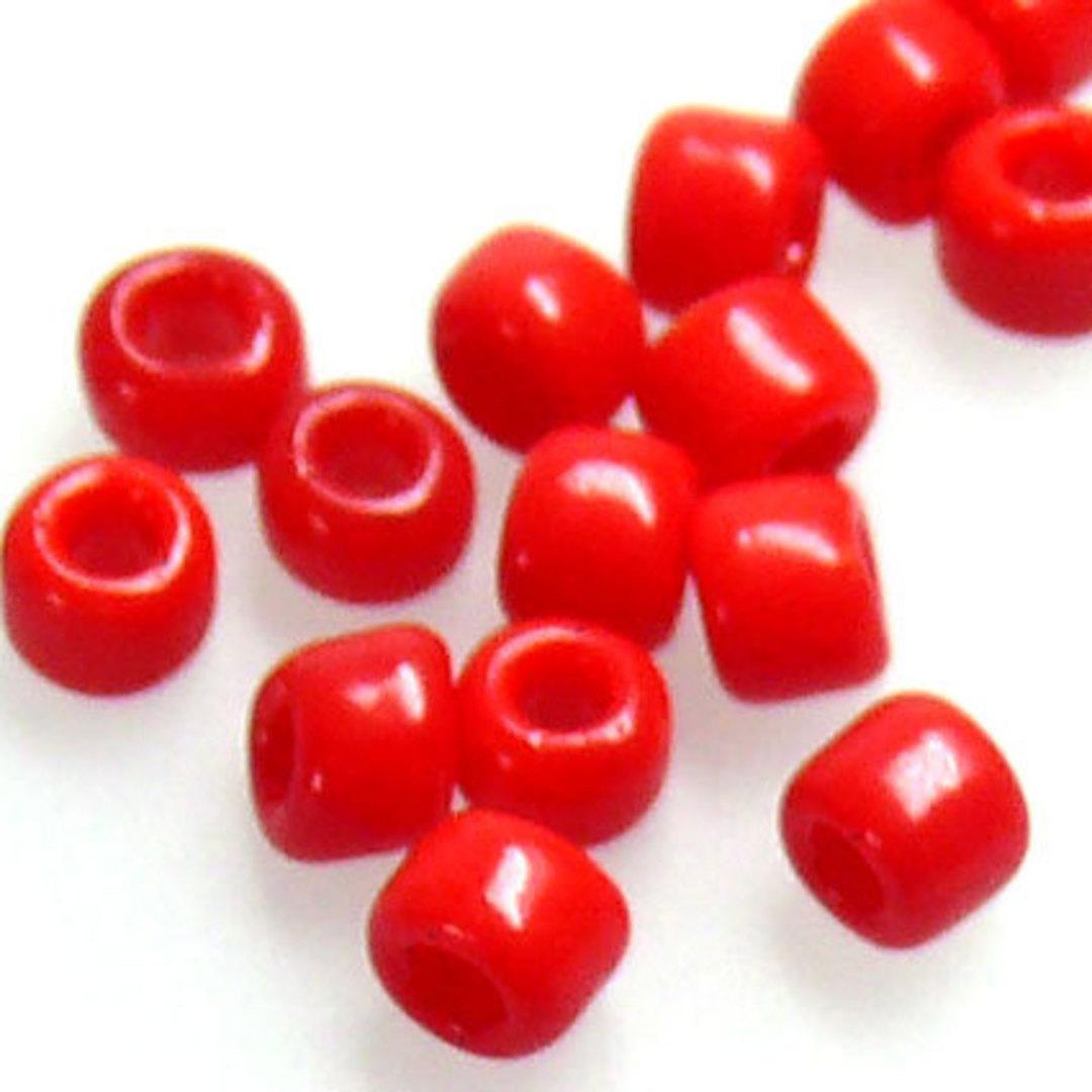 Matsuno size 8 round: 408 - Red Opaque image 0