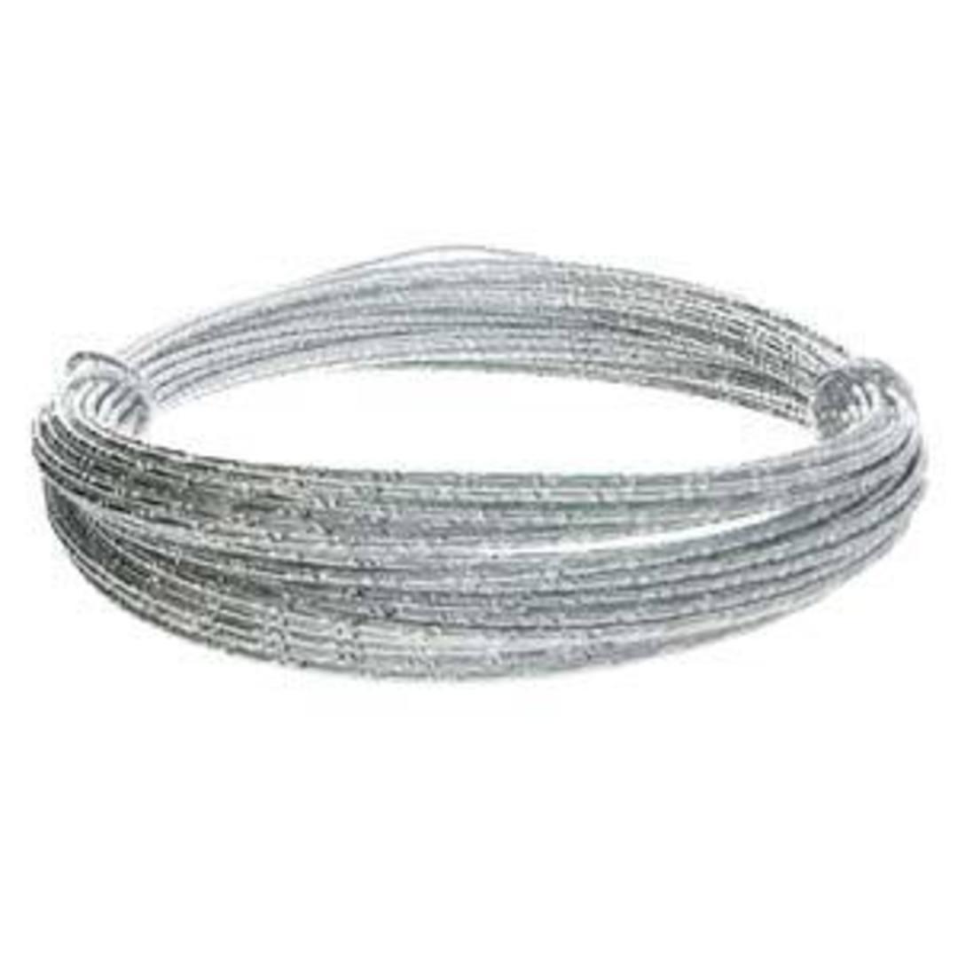 Aluminum Diamond Cut Craft Wire: 12 gauge - Silver/Silver image 3