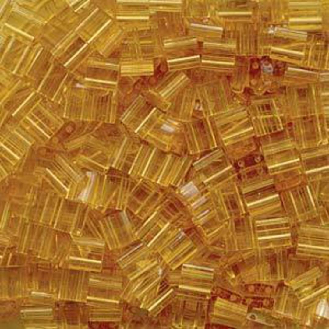 Tila Bead, 5mm, Transparent Pale Topaz image 0