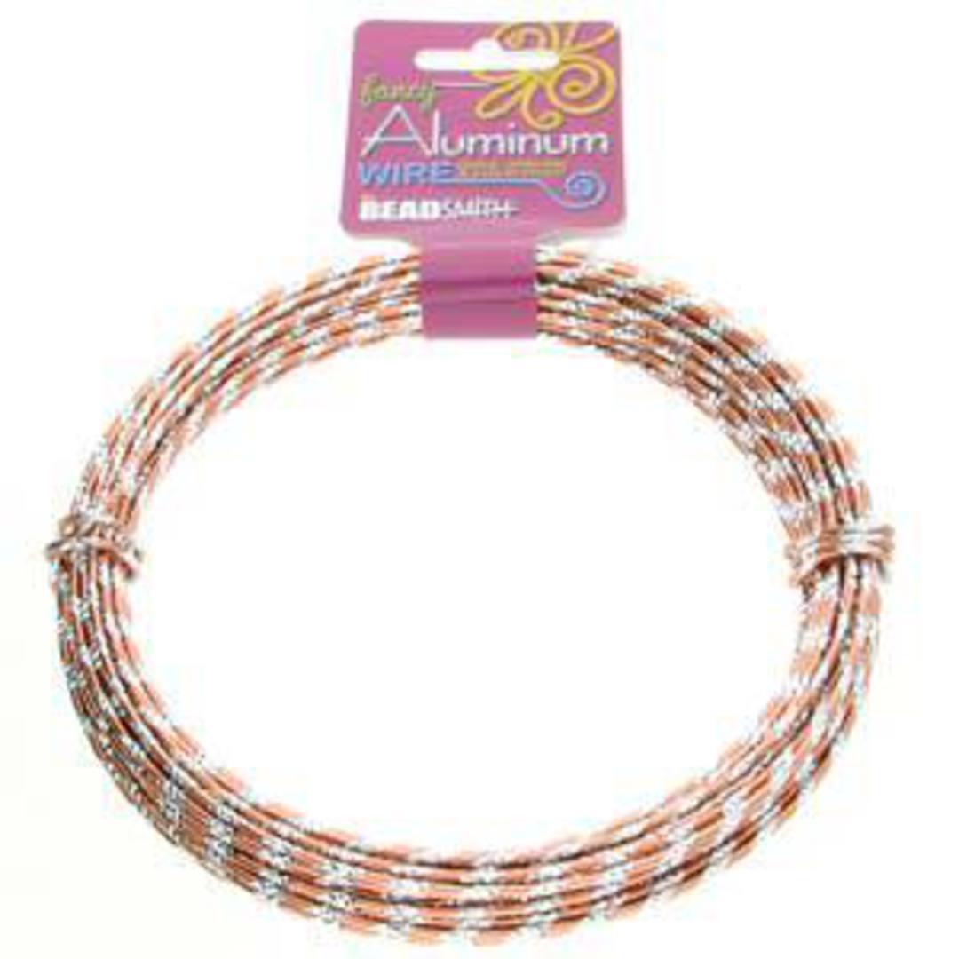 Aluminum Diamond Cut Craft Wire: 12 gauge - Copper/Silver image 3