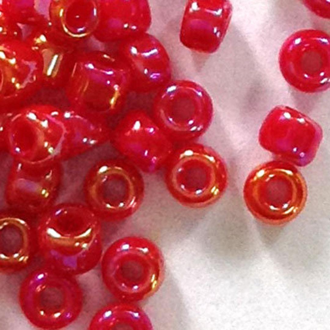 Matsuno size 11 round: 426A - Red AB, semi-opaque image 0