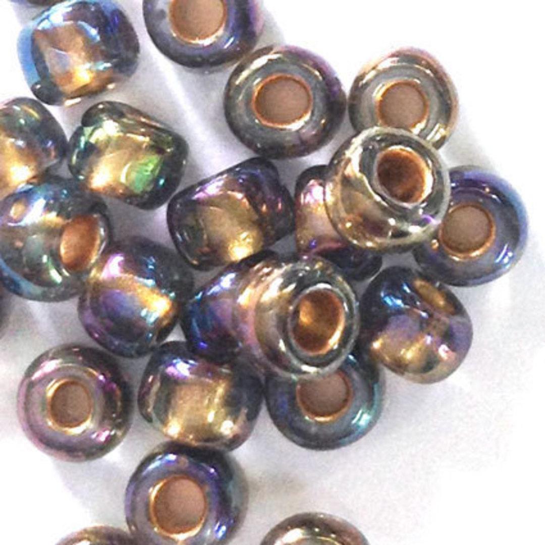 Toho size 6 round: 378J - Purply Grey Iris, silver lined image 1