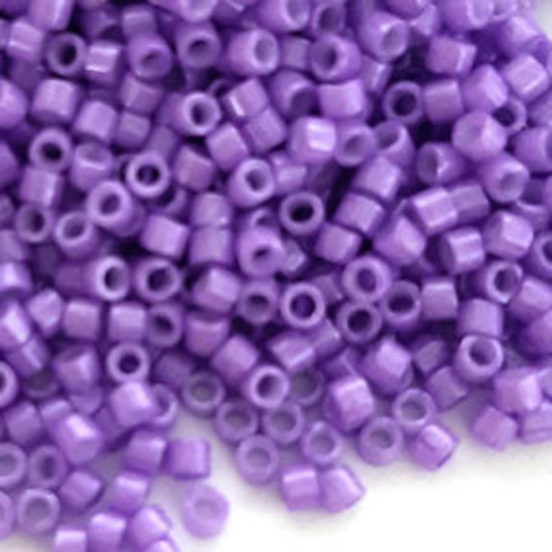 NEW! Delica, colour 1379 Dyed Opaque  Violet Sheen image 0