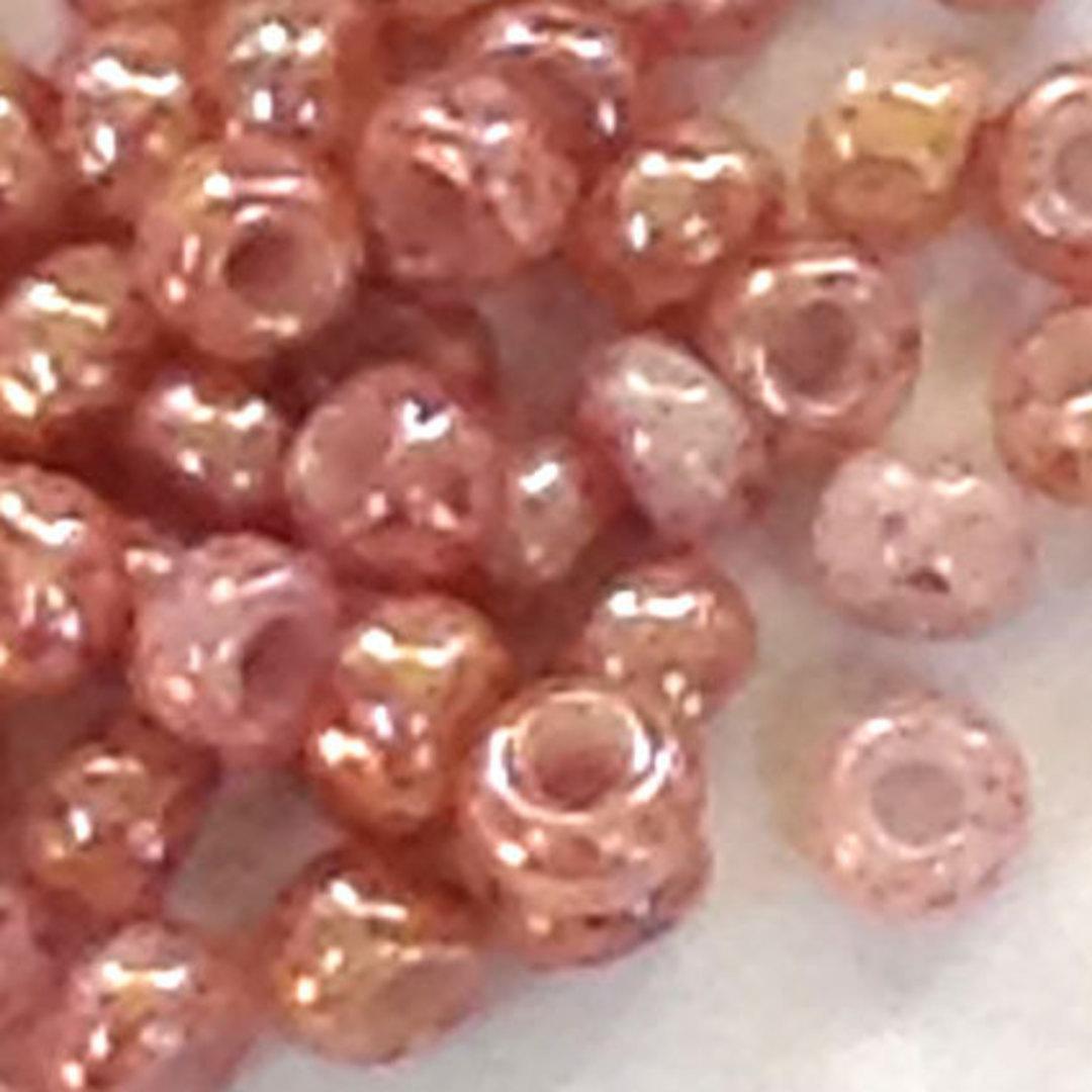 Toho size 11 round: 1201 - Pinky Beige, speckled image 0