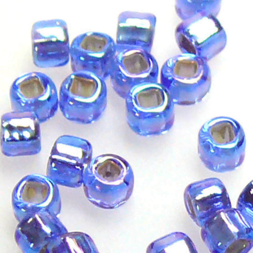 Matsuno size 8 round: 642 - Sapphire Shimmer, silver lined image 0