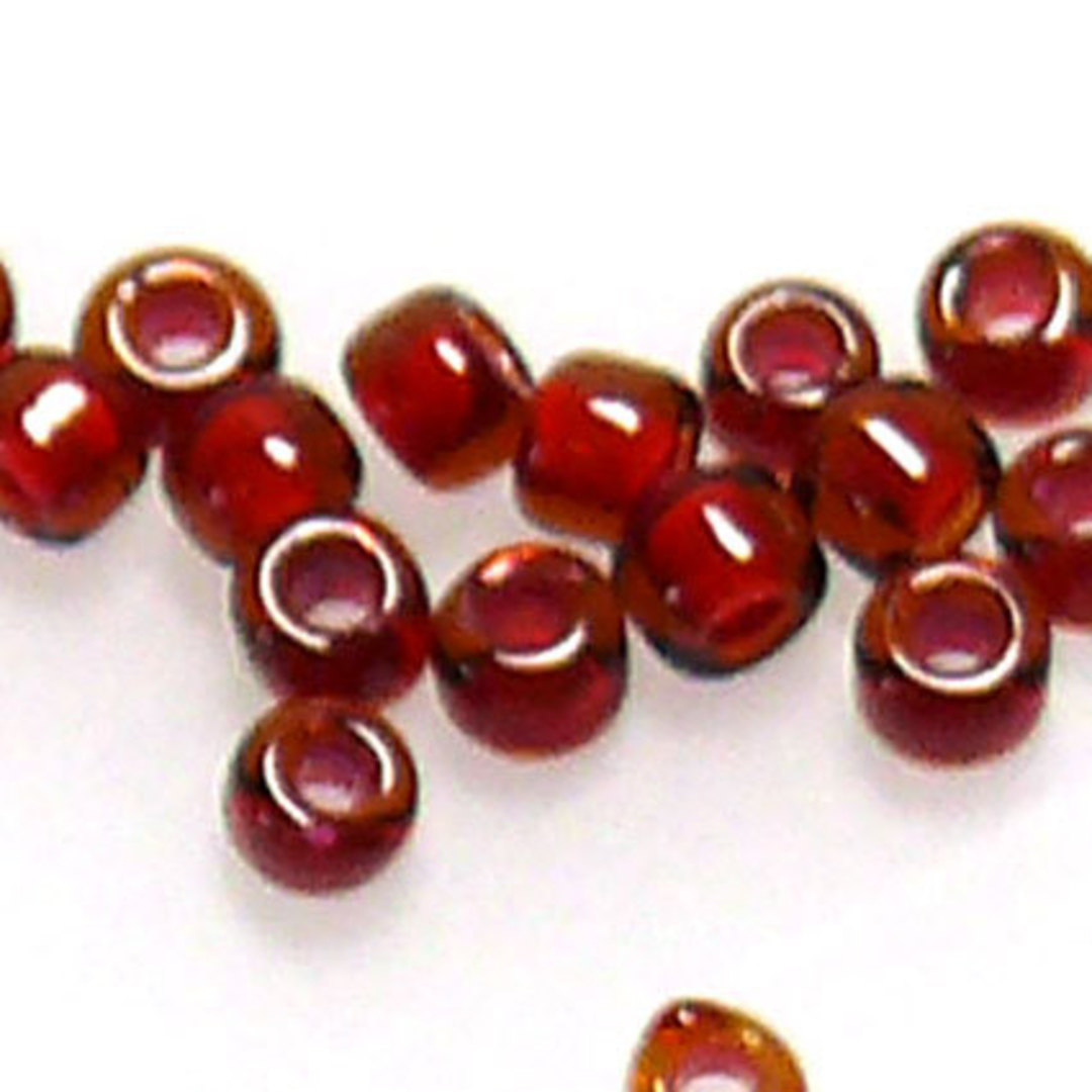 Matsuno size 11 round: 373A - Red/Garnet, colour lined image 0