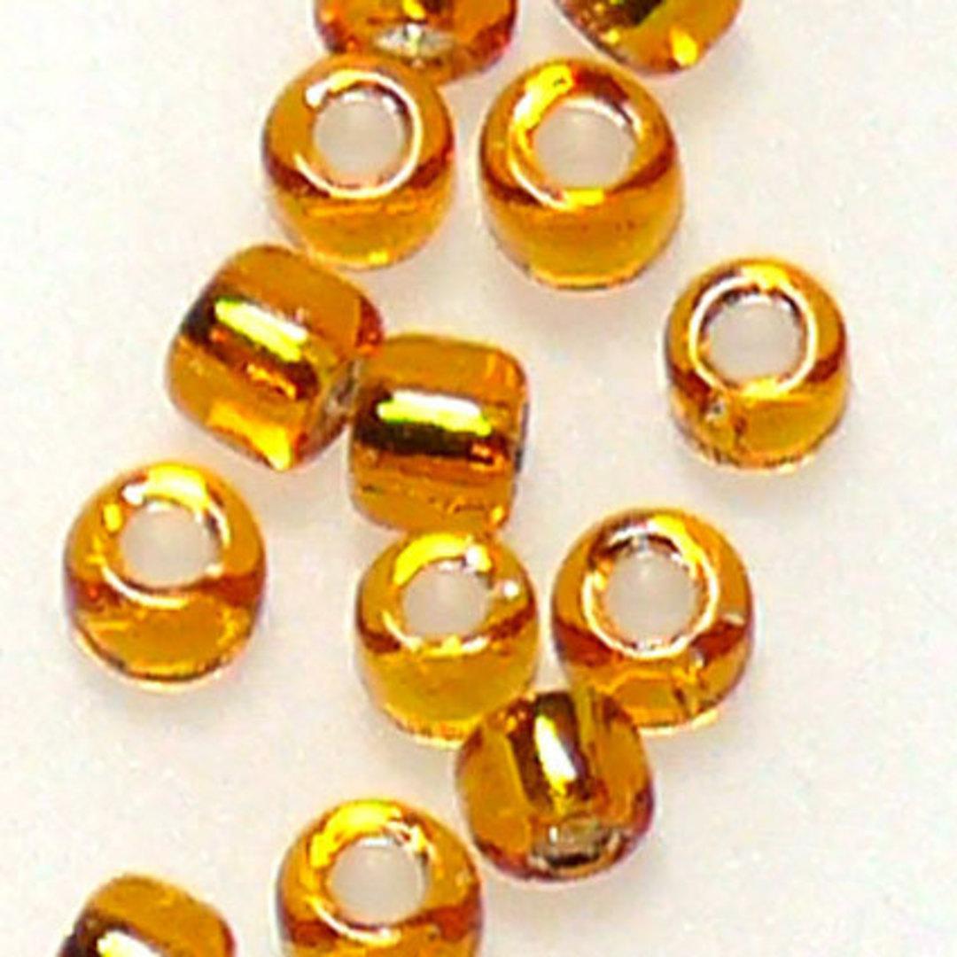 Matsuno size 11 round: 8 - Light Orange, silver lined image 0