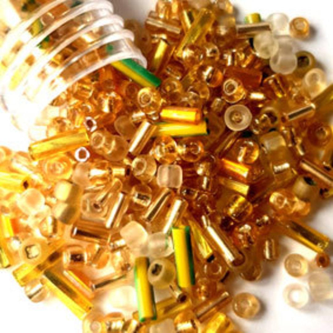 NEW! Vivi's Seed Bead Mix, 15gm - Gilded image 0