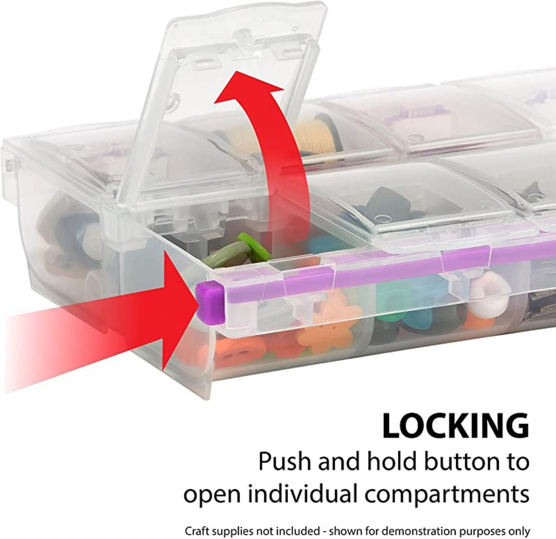 CraftMates EZ LOCK 14 compartment storage case image 0