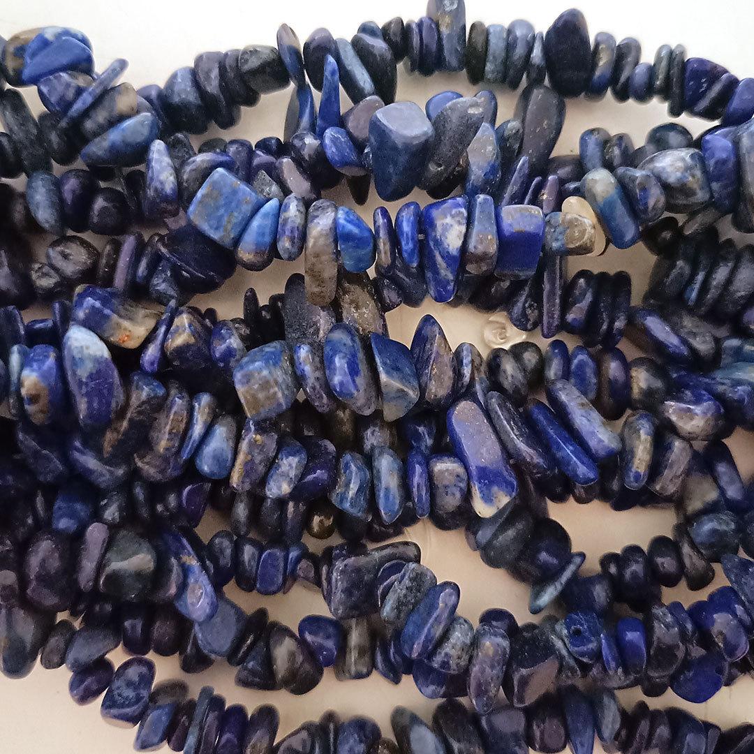 Lapis Lazuli Chips: 42cm strand image 0