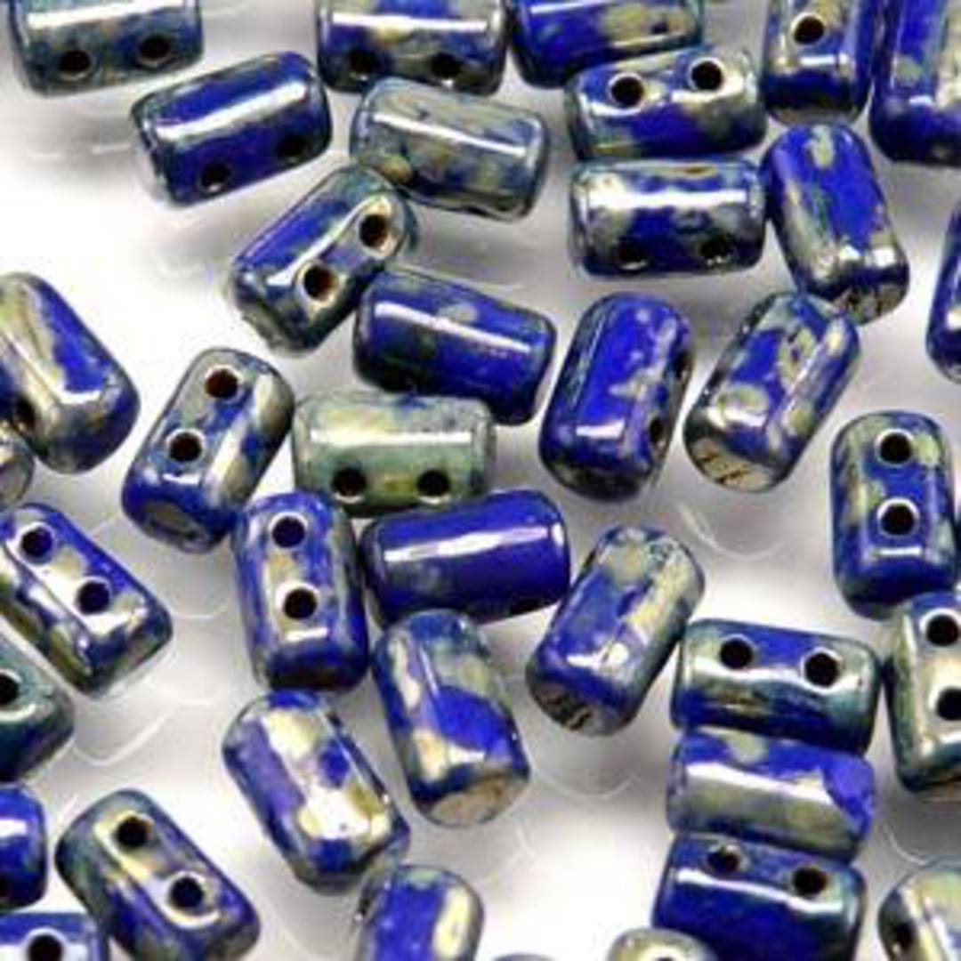 Rulla Bead: Opaque Blue Picasso image 0