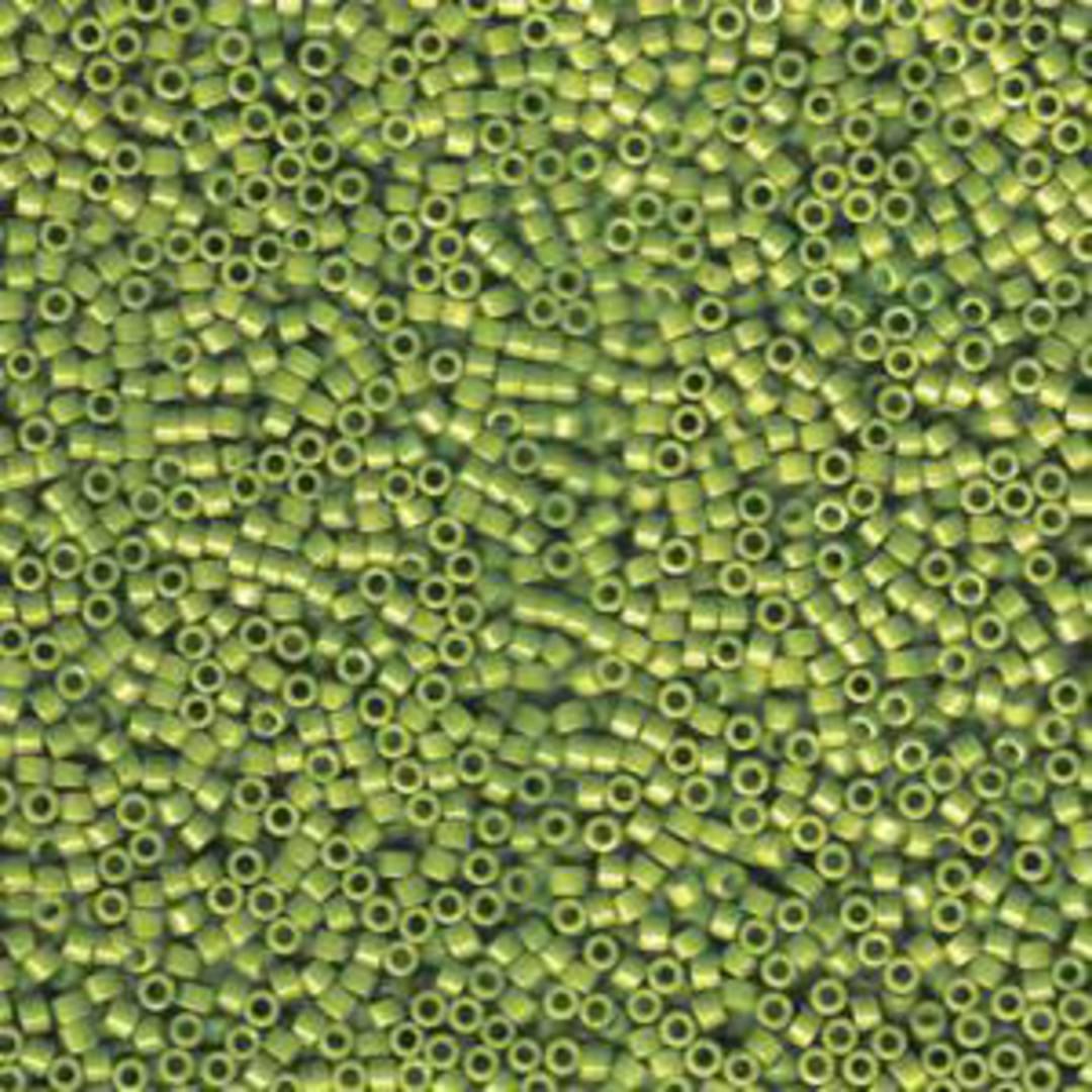 NEW! 11/0 Miyuki Delica, colour 1135 - Opaque Avacado image 0