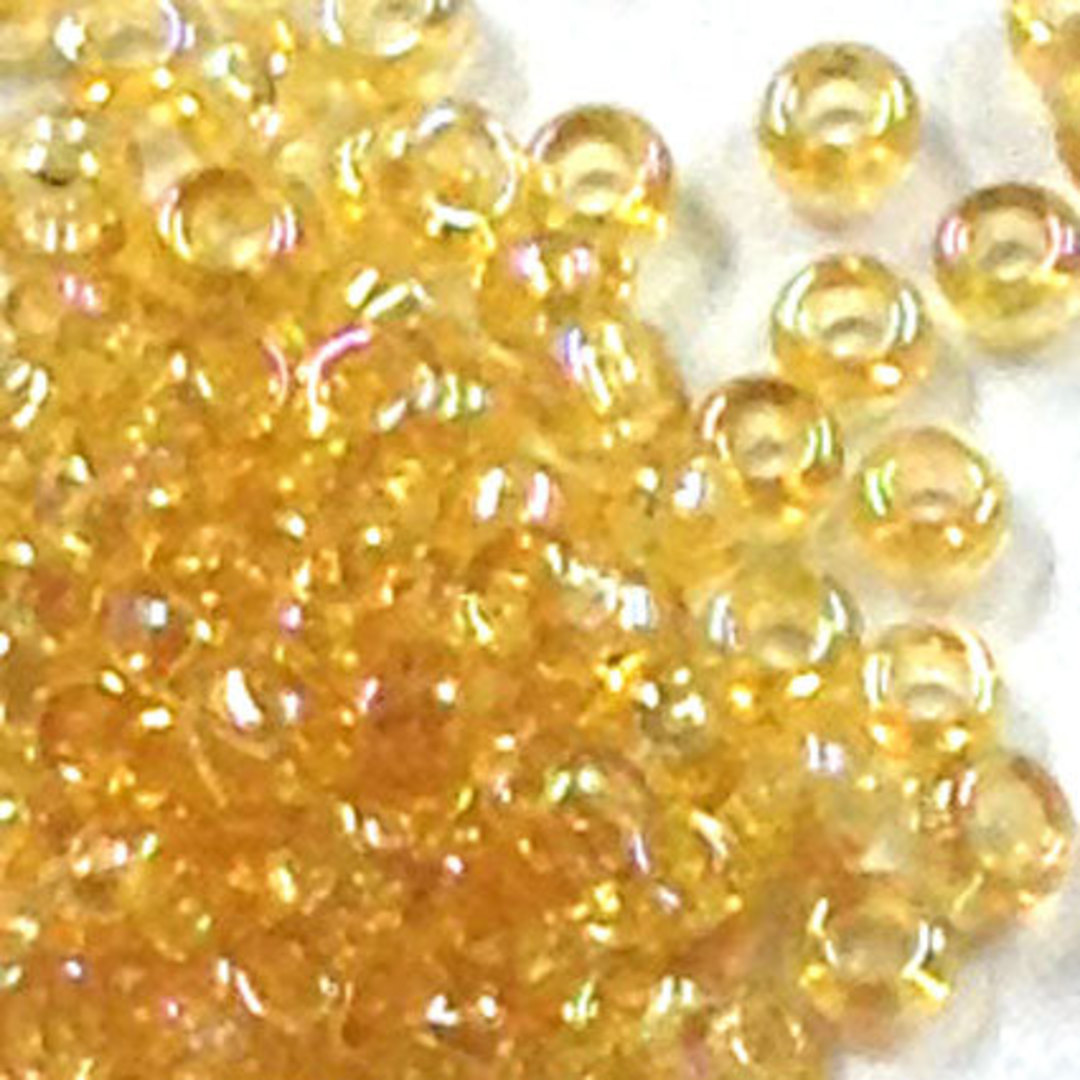 Miyuki size 15 round:  251A - Yellow Rainbow, transparent image 0