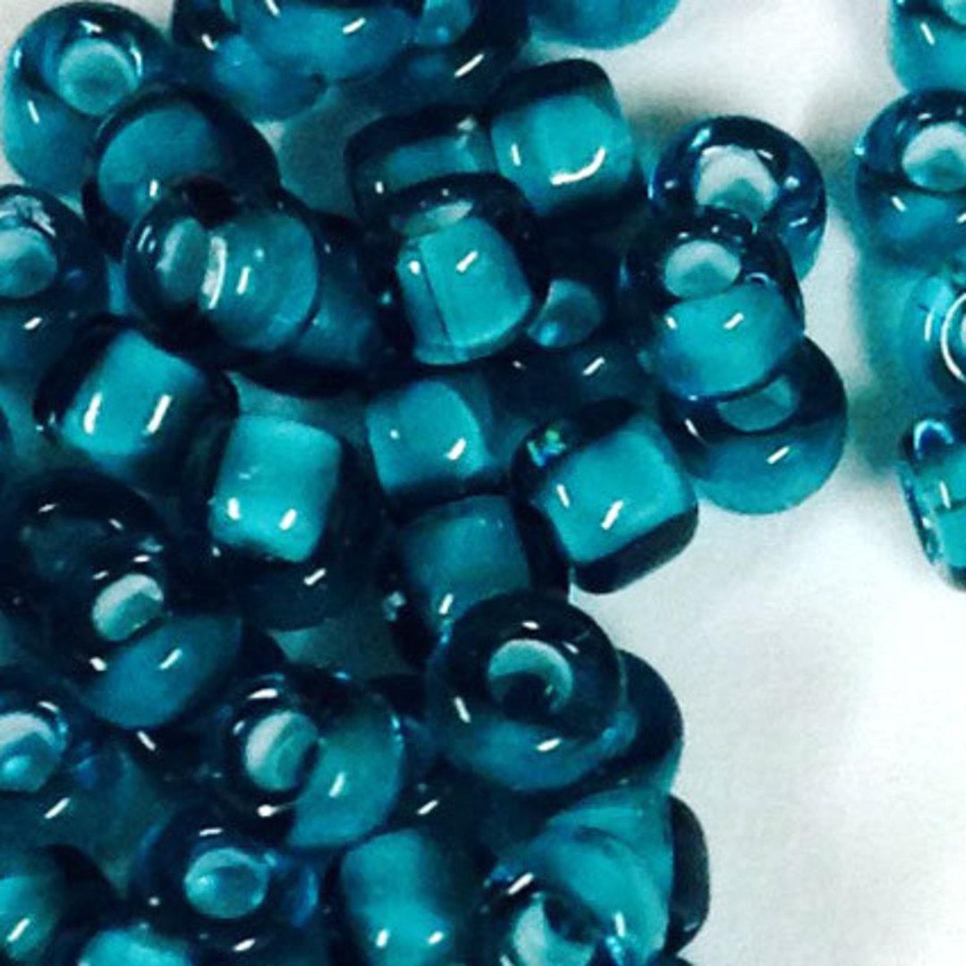 Matsuno size 8 round: 327C - Indicolite/Clear, colour lined image 0