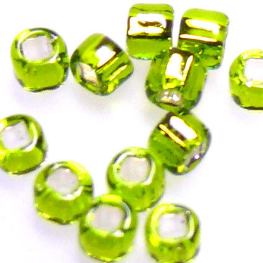 Matsuno size 8 round: 14 - Lime, silver lined image 1
