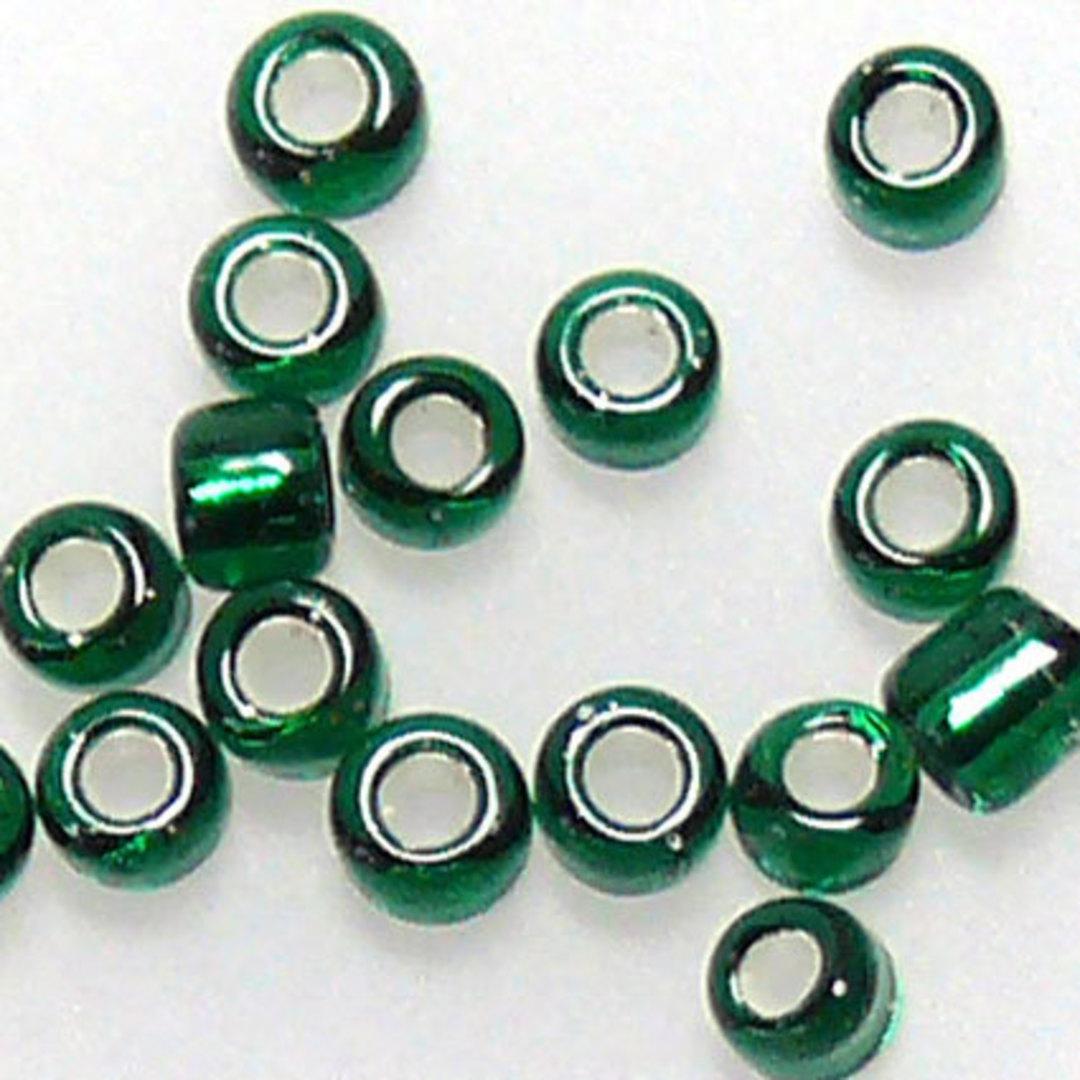 Matsuno size 11 round: 16A - Emerald, silver lined image 0