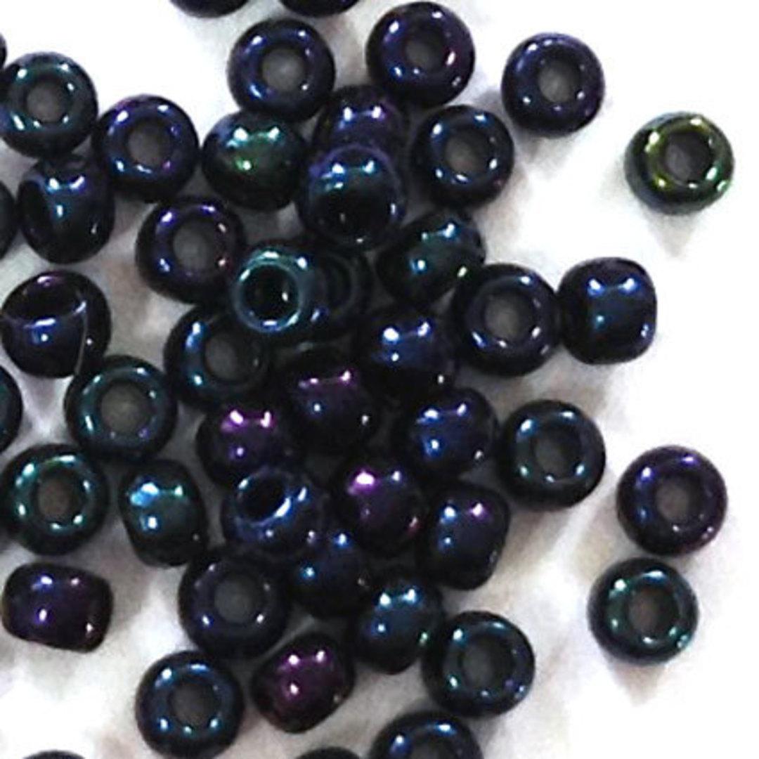 Toho size 11 round: 452 - Deep Blue Iris Shimmer image 0