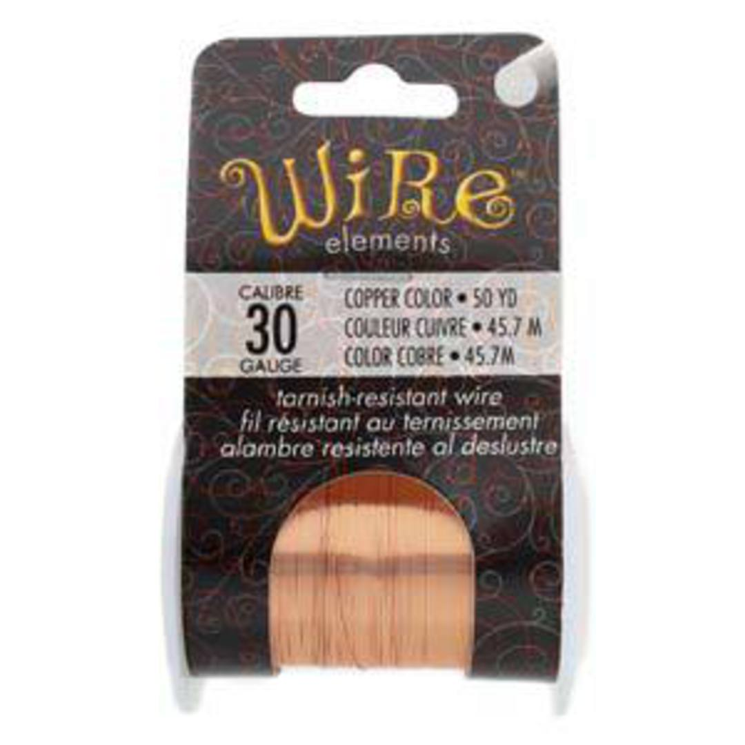 NEW! Beadsmith Craft Wire, Copper Colour: 30 gauge image 0