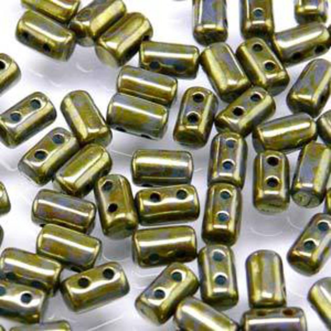Rulla Bead: Turq Blue Senegal Brown Violet image 0